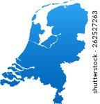 netherlands map | Shutterstock .eps vector #262527263