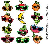 Cartoon Fruits Wearing...