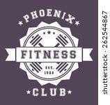 phoenix fitness club vintage... | Shutterstock .eps vector #262544867