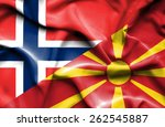 waving flag of macedonia and... | Shutterstock . vector #262545887