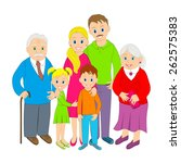 family portrait.grandparents ... | Shutterstock .eps vector #262575383
