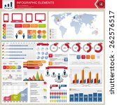 vector infographic elements. | Shutterstock .eps vector #262576517