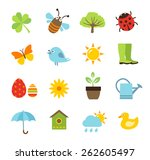 collection of vector icons... | Shutterstock .eps vector #262605497