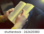 man reading the book   sepia... | Shutterstock . vector #262620383