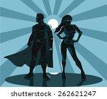 superheroes silhouette vector... | Shutterstock .eps vector #262621247