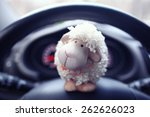 Toy Sheep Background Car Panel