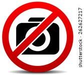 crossed camera symbol  no photo ... | Shutterstock .eps vector #262627217