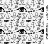 various clothing background | Shutterstock .eps vector #262646387
