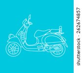 vector illustration of scooter... | Shutterstock .eps vector #262674857
