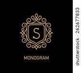 elegant monogram design... | Shutterstock .eps vector #262677833