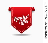 limited time offer red vector... | Shutterstock .eps vector #262677947
