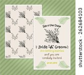 double sided vintage invitation ... | Shutterstock .eps vector #262684103