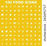 very useful food icon set on...
