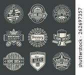 retro design insignias line art ... | Shutterstock .eps vector #262697357