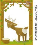 cartoon frame scene   roe  ... | Shutterstock . vector #262707467