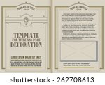 template booklet in vintage... | Shutterstock .eps vector #262708613