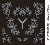 luxury vintage vector set of... | Shutterstock .eps vector #262709537