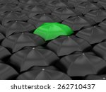 unique green umbrella with many ... | Shutterstock . vector #262710437