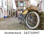 bicycle standing on a city... | Shutterstock . vector #262710947