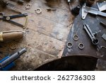 working desk for craft jewelery ... | Shutterstock . vector #262736303