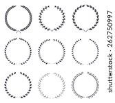 set of vintage laurel wreaths   ... | Shutterstock .eps vector #262750997