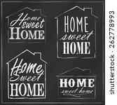 home sweet home | Shutterstock .eps vector #262778993