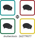 chat flat symbol and icons set... | Shutterstock .eps vector #262779077