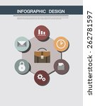 infographic in flat design....
