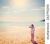 Summer Travel. Young Woman Is...