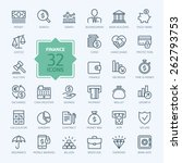 Thin Line Web Icon Set   Money...