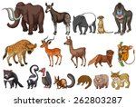 different kinds of rare animals | Shutterstock .eps vector #262803287