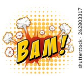word bam with explosion... | Shutterstock .eps vector #262803317