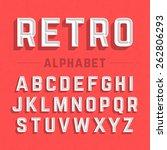retro style alphabet vector... | Shutterstock .eps vector #262806293