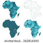 set of the contour border... | Shutterstock .eps vector #262816343