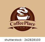 coffee shop logo design... | Shutterstock .eps vector #262828103