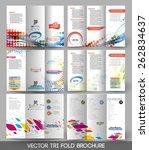 bundle of tri fold brochure... | Shutterstock .eps vector #262834637