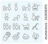 motherhood and childhood vector ... | Shutterstock .eps vector #262838393