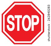 stop sign  traffic stop sign  | Shutterstock .eps vector #262840283