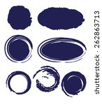 circle ink drop set for design  ... | Shutterstock . vector #262863713