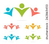 social network teamwork logo set | Shutterstock .eps vector #262865453
