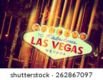 glowing las vegas sign. welcome ... | Shutterstock . vector #262867097