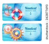 nautical vintage thematic... | Shutterstock .eps vector #262877693