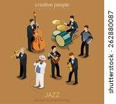Jazz Music Band Flat 3d Web...
