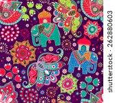 ornamental seamless pattern ... | Shutterstock .eps vector #262880603