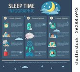 sleep time infographic set with ... | Shutterstock .eps vector #262885943
