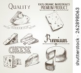 hand drawn doodle sketch cheese ... | Shutterstock .eps vector #262898063