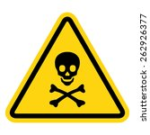 skull and bones warning sign | Shutterstock .eps vector #262926377