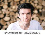 a close up portrait of a... | Shutterstock . vector #262930373