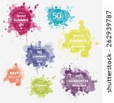 summer offer stickers with... | Shutterstock .eps vector #262939787