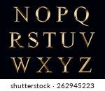 golden alphabet | Shutterstock . vector #262945223